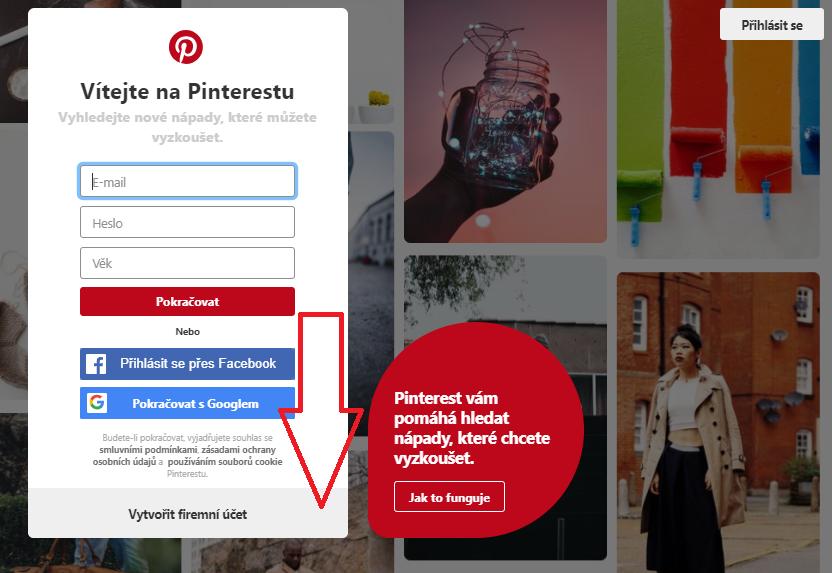 Jak vytvořit firemní účet na Pinterestu do 2 minut
